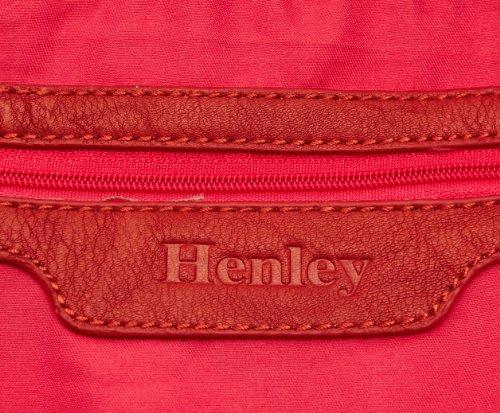 Henley Amy, Borsa a tracolla Donna, Bianco (Stone/Orange), Unica