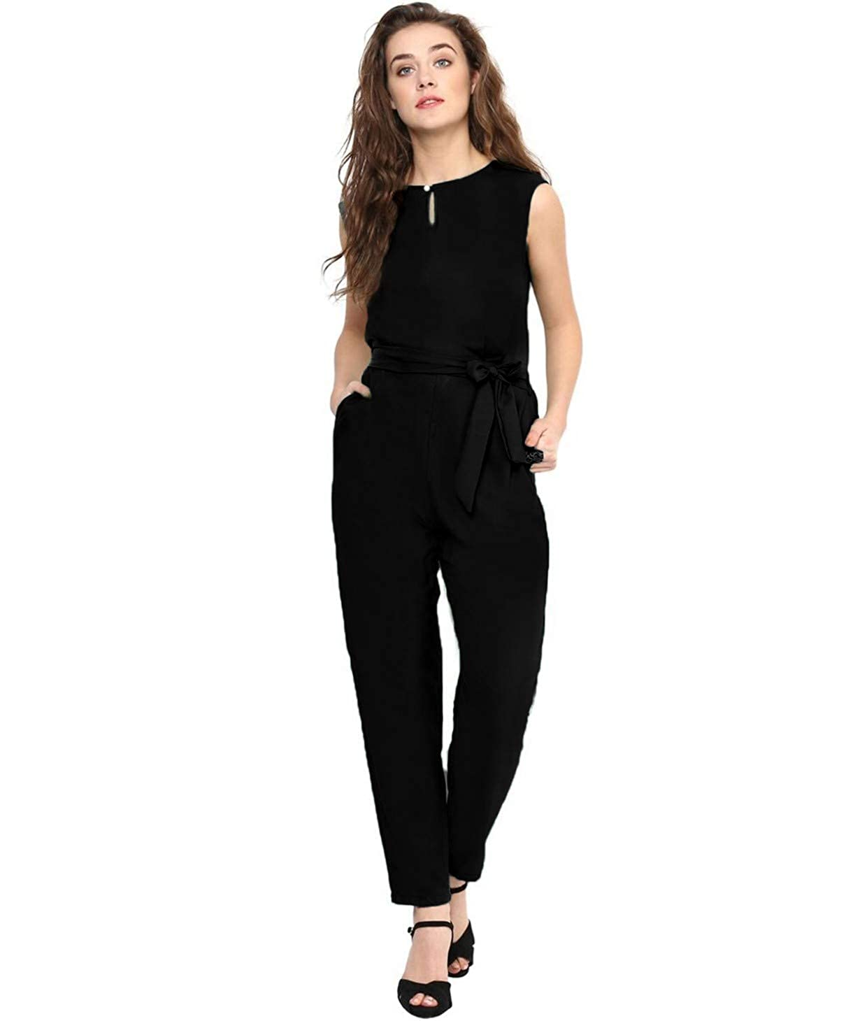 403998941ba4 Uptownie Lite Women s Crepe Keyhole Jumpsuit  Amazon.in  Clothing    Accessories