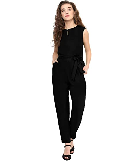 b91bc0492cfd Uptownie Lite Women s Crepe Keyhole Jumpsuit  Amazon.in  Clothing ...