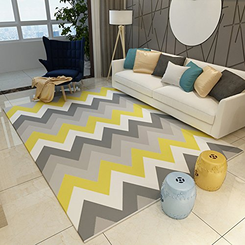 Geometry Home Rugs 63 X 91 Inch - MeMoreCool Various Patterns No Fading Anti-slipping Simple Style Living Room Tea Table (Tea Bag Tiles)