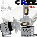 AUSI H4 9003 HB2 LED Headlight Bulb High Low Beams DRL Adjustable Beam Pattern All-In-One Conversion Kit CREE 12000LM 6500K Headlamp Bulb For Toyota Tacoma Tundra Honda CR-V Civic Ford GMC Nissan
