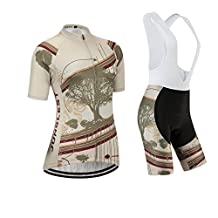 Cycling jersey Set, Maillot de Cyclisme Women Femme Short sleeve Manches Courtes(S~5XL,option:bib Cuissard,3D pad Coussin) N233