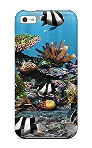 LJF phone case MaritzaKentDiaz Premium Protective Hard Case For ipod touch 5- Nice Design - Artistic Three Stripe Damselfish