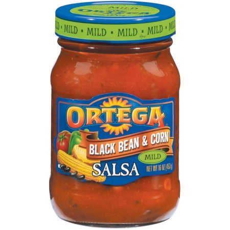 Ortega Black Bean & Corn Mild Salsa 16 Oz Jar