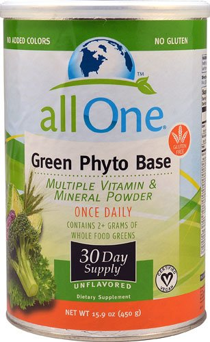 All One Nutritech Green Phyto Base Multiple Vitamin and Mineral Powder -- 15.9 oz - (All One Green Phyto Base)