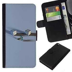 NEECELL GIFT forCITY // Billetera de cuero Caso Cubierta de protección Carcasa / Leather Wallet Case for HTC DESIRE 816 // M1necraft