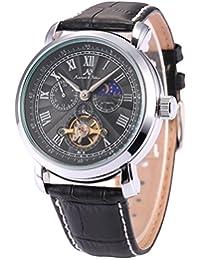 KS Men's Automatic Mechanical 24 Hour Display Leather Band Wrist Watch KS222