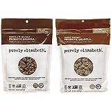Purely Elizabeth Gluten Free Non-GMO Probiotic Granola 2 Flavor Sampler Bundle: (1) Chocolate Sea Salt, and (1) Maple Walnut, 8 Oz. Ea. (2 Bags)