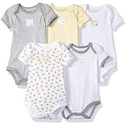 Burt's Bees Baby 5 Short Sleeve Bodysuits
