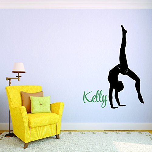 Personalized Custom Name Professional Gymnastics Sports Kids Sticker Vinyl Wall Decal 20 Inches x 10 Inches