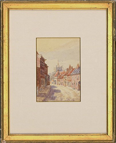 Sulis Fine Art Framed Early 20th Century Watercolour - Dorchester Street Scene