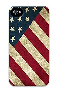 IMARTCASE iPhone 4S Case, Grunge American Flag Wall PC Hard Plastic Case for Apple iPhone 4S and iPhone 4 by heywan