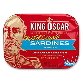 King Oscar Wild Caught Brisling Sardines In Pure Spring Water, 3.75 Ounce (Pack of 12) ( Pack May Vary )
