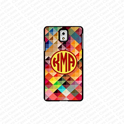 krezy case monogram Galaxy Note 4 case- monogram Personalized colorful geometric pattern samsung Galaxy Note 4...