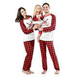Baywell Holiday Matching Family Pajamas Cotton Sleepwear Merry Christmas Mom Dad Kids Outfits PJs
