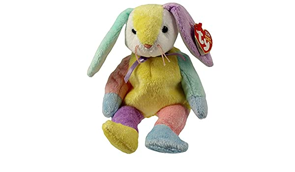 TY Beanie Baby 8.5 inch Purple /& Yellow Head DIPPY the Multi-Colored Rabbit