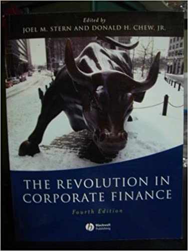 Book Revolution in Corporate Finance (4th, 03) by [Paperback (2003)]