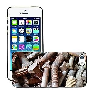 Print Motif Coque de protection Case Cover // M00155799 Tornillo oxidado del hierro del metal // Apple iPhone 5 5S 5G