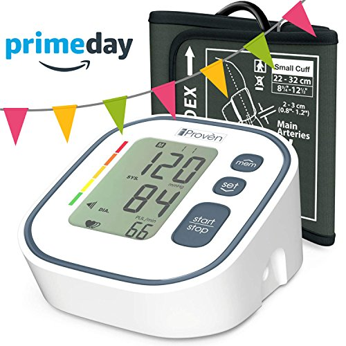 Digital Automatic Blood Pressure Monitor - Upper Arm Cuff - Large Screen - Accurate & Fast Reading Electronic Machine - Top Rated BP Monitors and Cuffs - FDA Approved - (Pressure Machine)