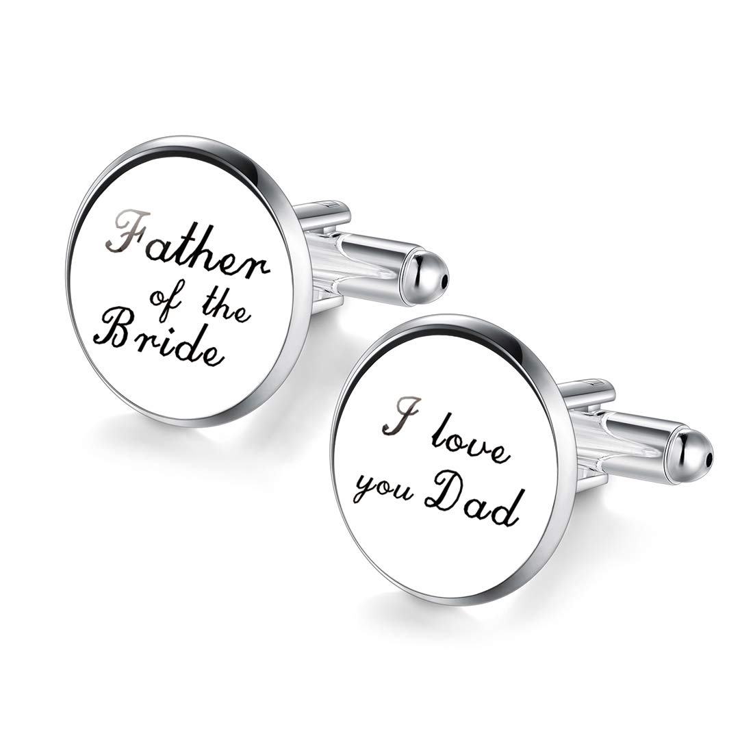 Jiayiqi Cuff Links Father of The Bride i Love You dad