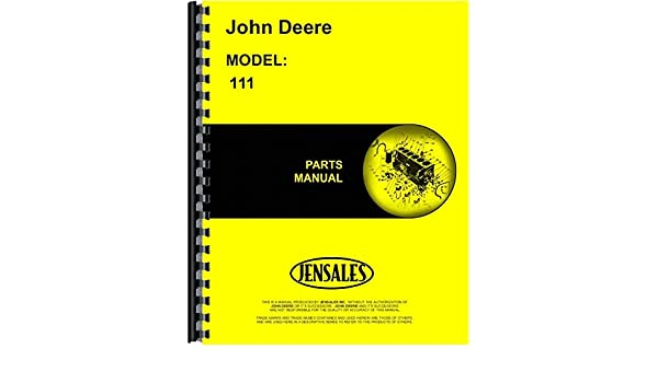 John Deere 111 Disc Parts Manual John Deere 0761873354804 Amazon