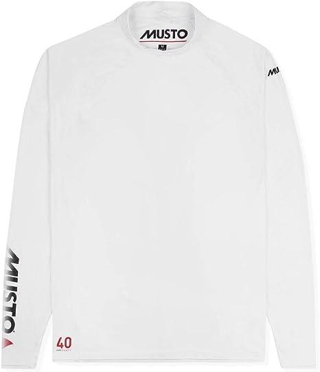 Musto para Insignia UV Dry Camiseta de Manga Larga Camiseta Top Blanca - Protección Solar UV y propiedades SPF: Amazon.es: Deportes y aire libre