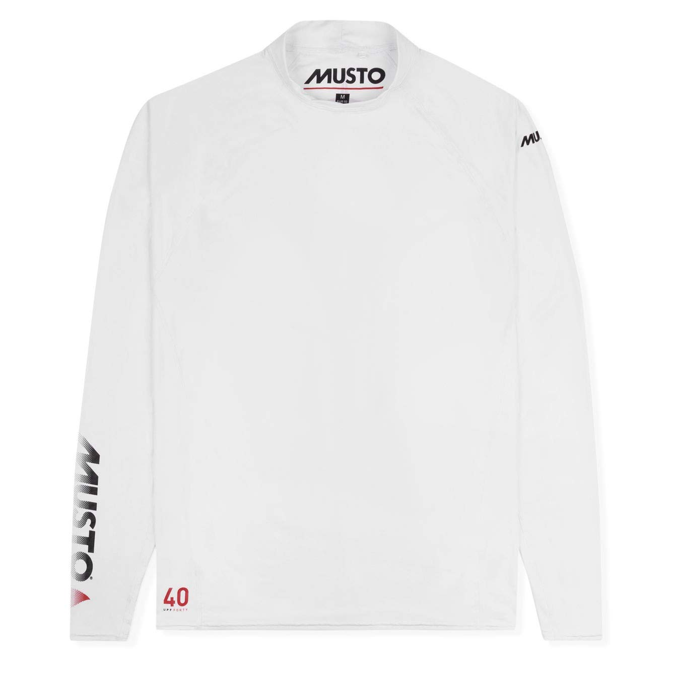 Musto Mens Insignia UV Fast Dry Long Sleeve T-Shirt White SUTS010
