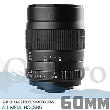 Oshiro 60mm f/2.8 2:1 LD UNC Manual Macro Lens Canon EF EOS 80D, 77D, 70D, 60D, 60Da, 50D, 7D, 6D, 5D, 5DS, 1DS, T7i, T7s, T7, T6s, T6i, T6, T5i, T5, T4i, T3i, T3, SL2 SL1 Digital SLR Cameras