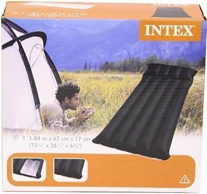 Amazon.com: Intex Inflatable único Camping Mat: Sports ...