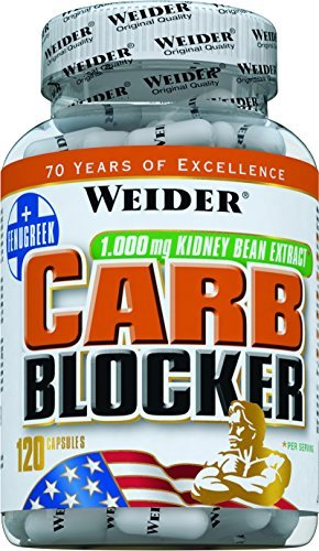 Weider Carb Blocker - Pack of 120 Capsules by Weider