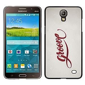 EJOY---Cubierta de la caja de protección para la piel dura ** Samsung Galaxy Mega 2 ** --Groove Cita Slogan Sign Estilo Insignia Vida