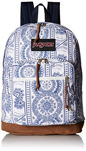 JanSport Unisex Right Pack Expressions Back Pack White Swedish Lace One -