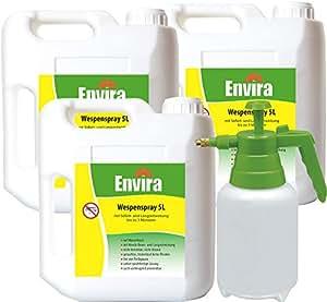 envira avispas de spray 3x 5ltr + 2ltr pulverizador