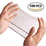 Smilco Hair Nets Invisible Elastic Edge Mesh 20 Inches 50cm (Pack of 100PCS, Bulk Packing, Brown)