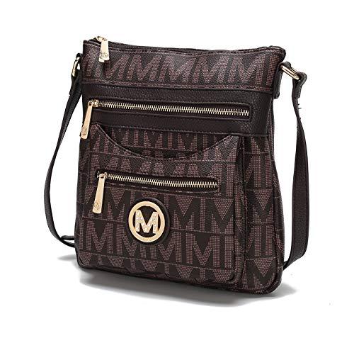MKF Crossbody bag for women - Removable Adjustable Strap - Vegan leather Crossover Designer messenger Purse Chocolate ()