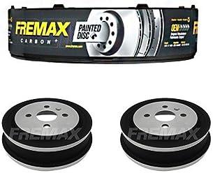 Fremax Set Hinterachse Bremsscheiben BD-0412 Bremsbel/äge FBP-1139