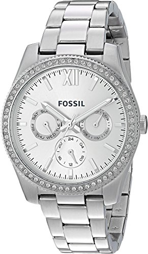 Fossil Women's 'Scarlette' Quartz Stainless Steel Casual Watch, Color:Silver-Toned (Model: ES4314) by Fossil