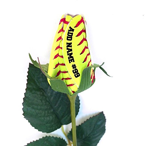 Personalized Gift Floral Bouquet - Personalized Softball Rose