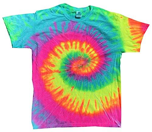 Colortone Tie Dye 2X Minty Rainbow (Tie Dye Swirl T-shirt Rainbow)