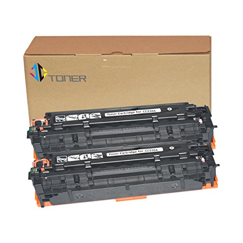 - JC Toner Compatible for 304A CC530A Toner Cartridge for use with Color LaserJet CP2025 CP2025dn CM2320fxi mfp; imageCLASS MF726Cdw LBP766 ( Black, 2-Pack)