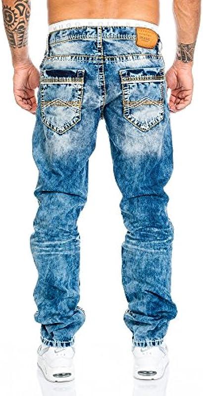 Cipo & Baxx Męskie dżinsy spodnie z szwami: Odzież