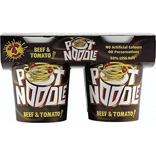 Pot Noodle Beef & Tomato Flavour (4x90g) by Pot -
