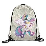 Creative Design Princess Celestia My Little Pony Drawstring Backpack Sport Bag For Men And Women