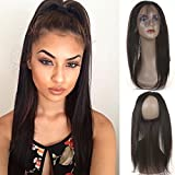 B&P Hair Brazilian Straight Hair 360 Lace Frontal 7A Unprocessed Brazilian Virgin Hair