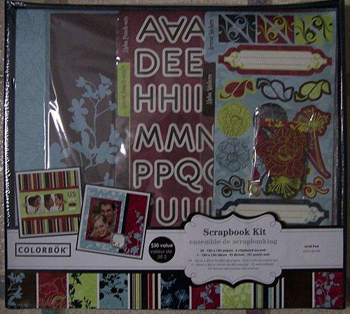 Colorbok Scrapbook Kit with Album, Plum Passions (Colorbok Kit Scrapbook)