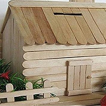 Holz Farbe Farbige h/ölzerne EIS am Stiel Sticks Naturholz Eisstangen Kinder DIY Hand Handwerk handgefertigtes Baumodell Material