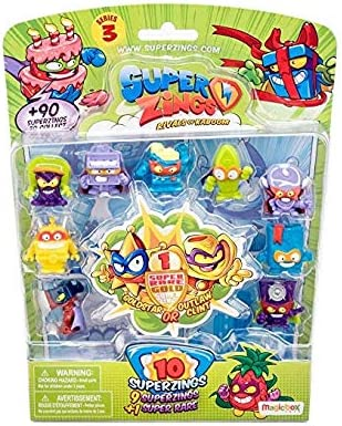 Amazon.es: SuperZings Secret Lab Adventure 1, con 2 exclusivas Figuras Serie 3 Blíster 10 Figuras (1 Figura Dorada y 9 Figuras Regulares): Juguetes y juegos