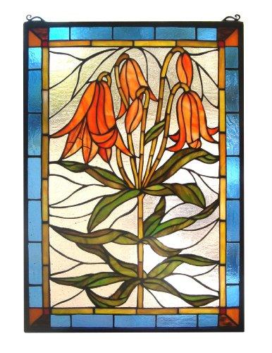 Meyda Tiffany Trumpet Lily Window Panel ()