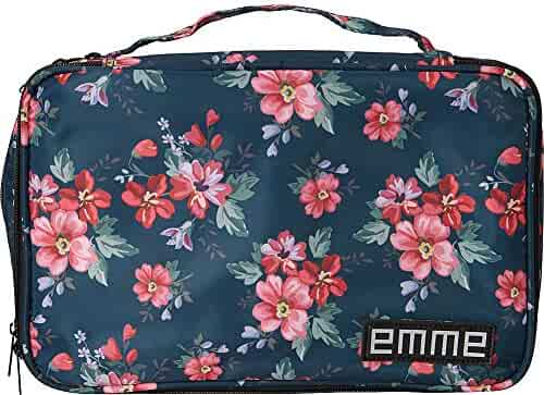 EMME The Original EMME Cosmetic and Toiletry Travel Bag (Green/Red)