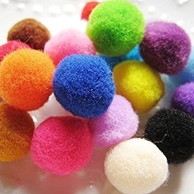 Pom Poms 100 Pieces 1.57 Inch DIY Creative Crafts Decorations Assorted Pompoms for Hobby Supplies (pom poms acrylic yarn): Arts, Crafts & Sewing